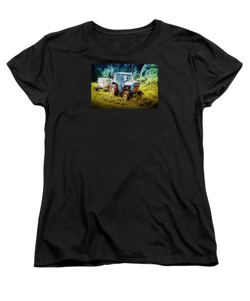 Old Blue Ford Tractor Women's T-Shirt (Standard Cut) by John Williams