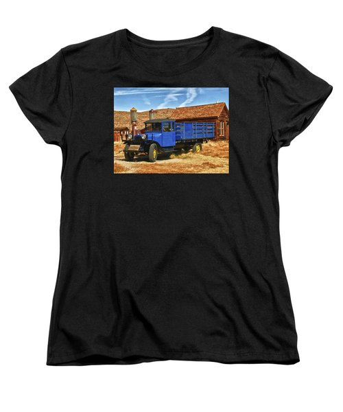 Old Blue 1927 Dodge Truck Bodie State Park Women's T-Shirt (Standard Cut) by James Hammond