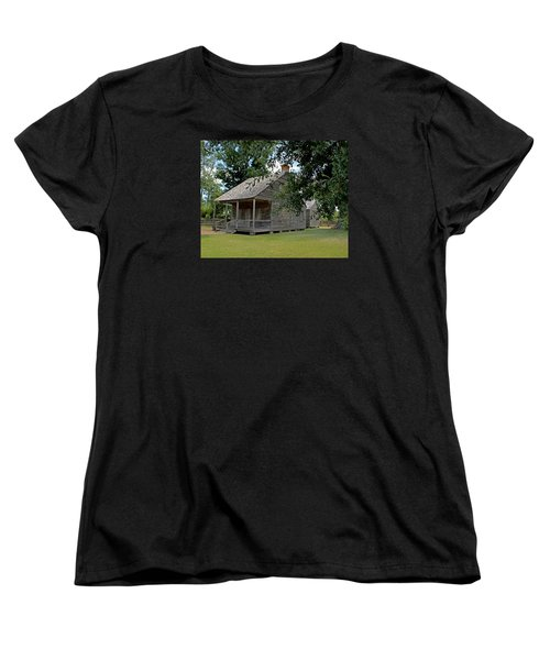 Women's T-Shirt (Standard Cut) featuring the photograph Old Cajun Home by Judy Vincent