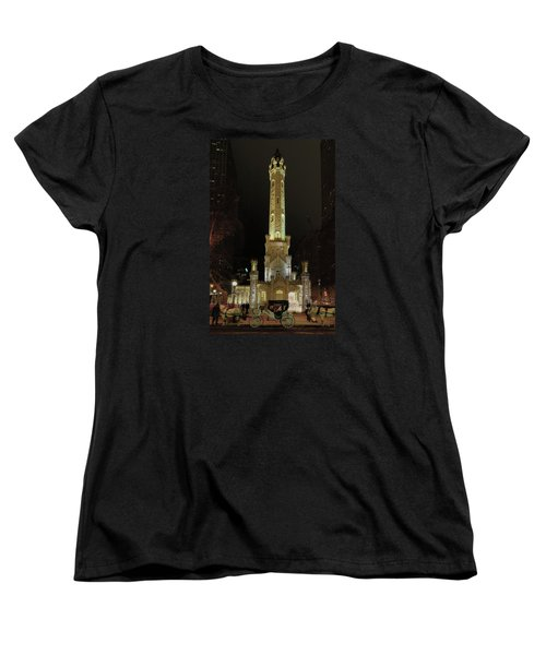 Old Chicago Water Tower Women's T-Shirt (Standard Cut) by Alan Toepfer