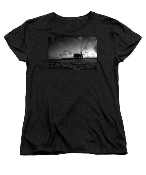 Old Countryside Church In Iceland Women's T-Shirt (Standard Cut) by Joe Belanger