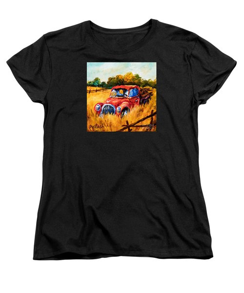Women's T-Shirt (Standard Cut) featuring the painting Old Friend by Igor Postash