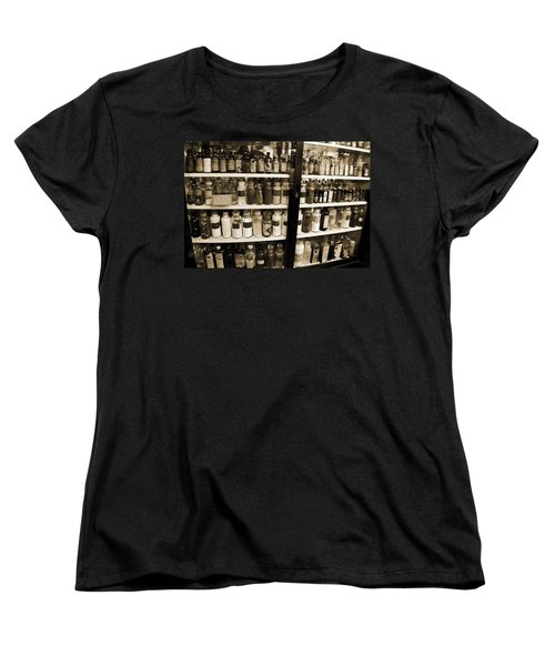 Old Drug Store Goods Women's T-Shirt (Standard Cut) by DigiArt Diaries by Vicky B Fuller