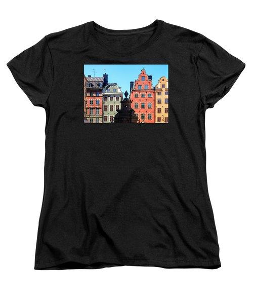 Old European Architecture Women's T-Shirt (Standard Cut) by Teemu Tretjakov