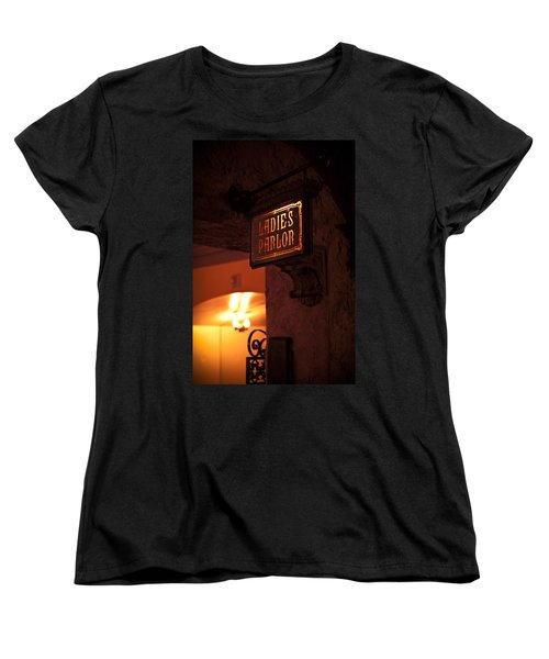 Women's T-Shirt (Standard Cut) featuring the photograph Old Fashioned Ladies Parlor Sign by Carolyn Marshall