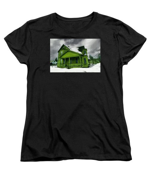 Women's T-Shirt (Standard Cut) featuring the photograph Old House In Roslyn Washington by Jeff Swan