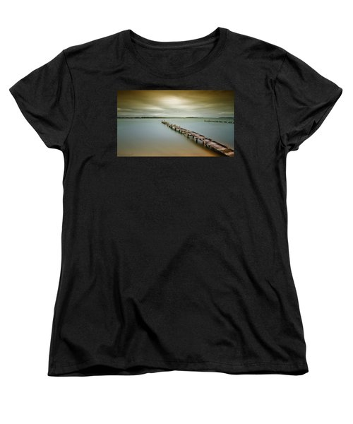 Old Jetty 0010 Women's T-Shirt (Standard Cut) by Kevin Chippindall