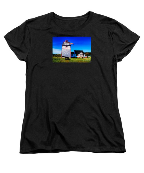 Women's T-Shirt (Standard Cut) featuring the photograph Old Lighthouse by Rick Bragan