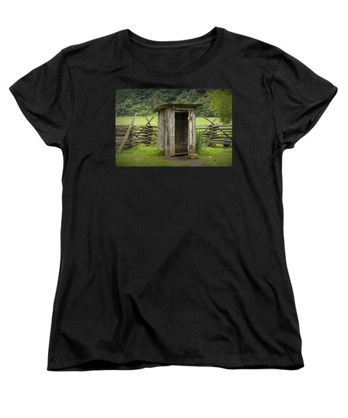 Old Outhouse On A Farm In The Smokey Mountains Women's T-Shirt (Standard Cut)