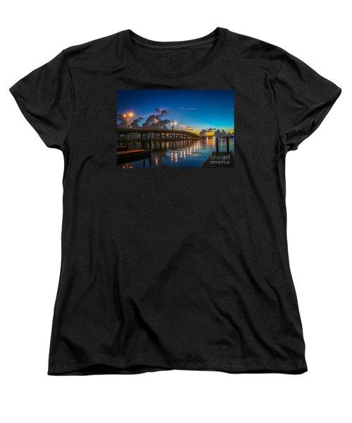 Old Palm City Bridge Women's T-Shirt (Standard Cut) by Tom Claud