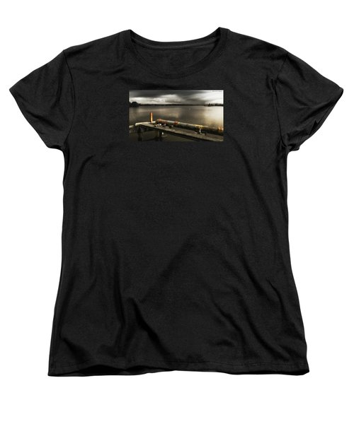 Women's T-Shirt (Standard Cut) featuring the photograph Old Pipe Line 01 by Kevin Chippindall