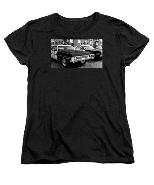 Old Police Car Women's T-Shirt (Standard Cut) by Paul Seymour