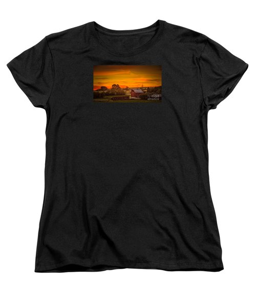 Old Red Barn Women's T-Shirt (Standard Cut) by Robert Bales