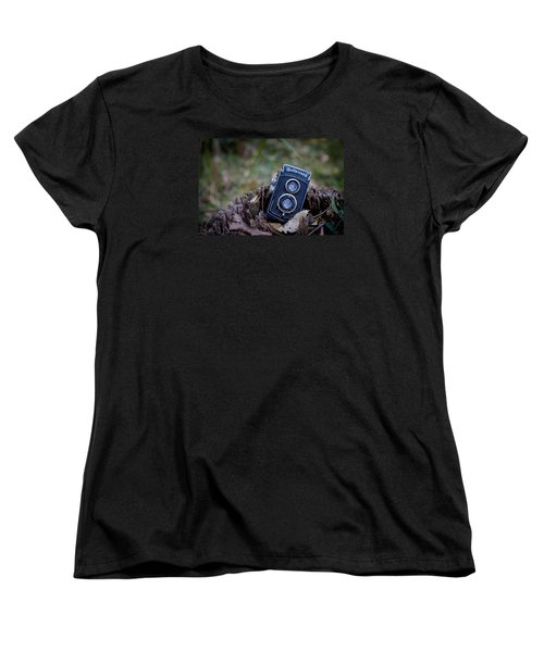 Women's T-Shirt (Standard Cut) featuring the photograph Old Rollei by Keith Hawley