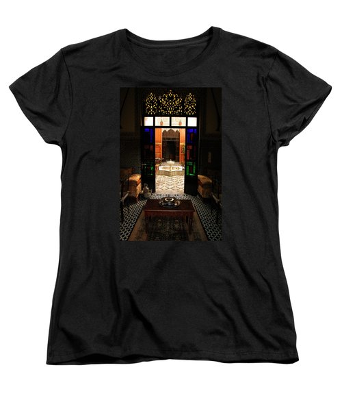 Old Traditional Riad In Fez Women's T-Shirt (Standard Cut) by Ralph A  Ledergerber-Photography