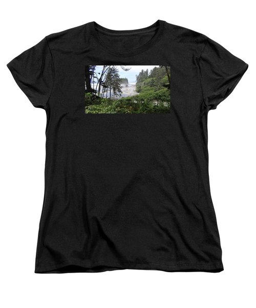 Women's T-Shirt (Standard Cut) featuring the photograph Olympic National Park Beach by Tony Mathews