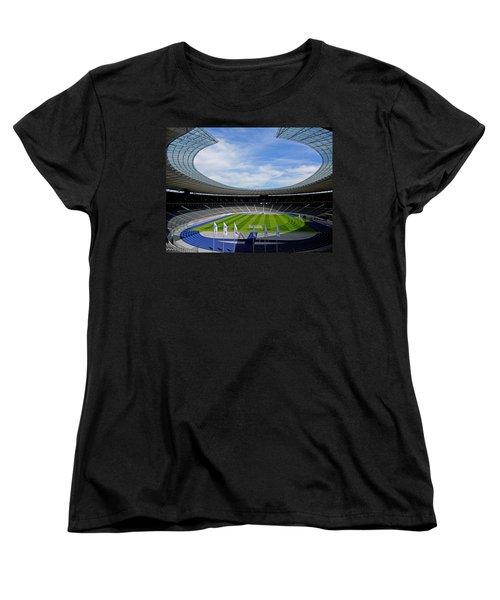 Olympic Stadium Berlin Women's T-Shirt (Standard Cut) by Juergen Weiss