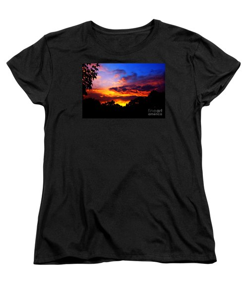 Ominous Sunset Women's T-Shirt (Standard Cut) by Clayton Bruster