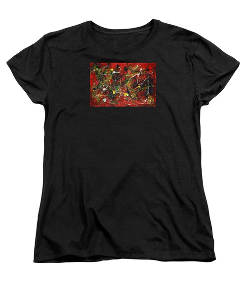 Women's T-Shirt (Standard Cut) featuring the painting On A High Note by Jacqueline Athmann