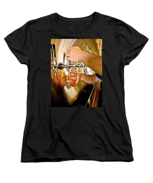 Women's T-Shirt (Standard Cut) featuring the photograph On Tap by Linda Unger