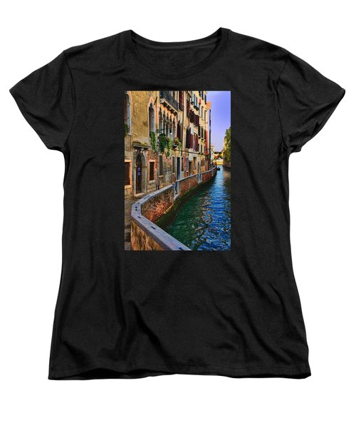 On The Canal-venice Women's T-Shirt (Standard Cut) by Tom Prendergast