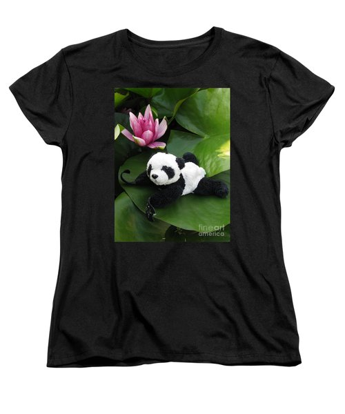 Women's T-Shirt (Standard Cut) featuring the photograph On The Waterlily by Ausra Huntington nee Paulauskaite