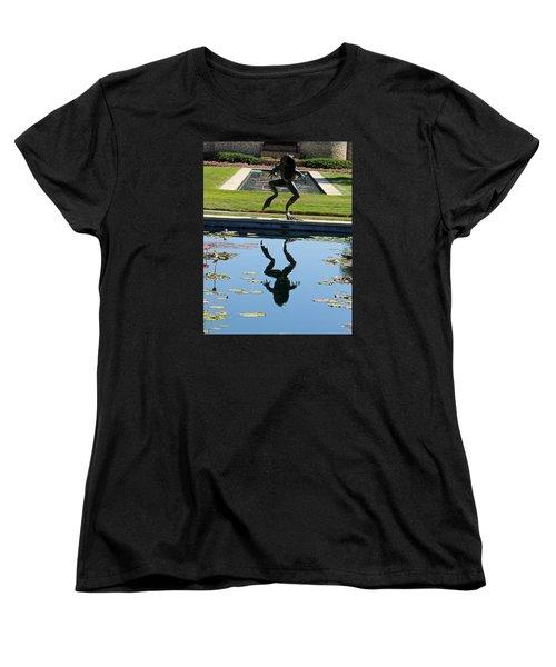 One Giant Leap Women's T-Shirt (Standard Cut) by Pamela Critchlow