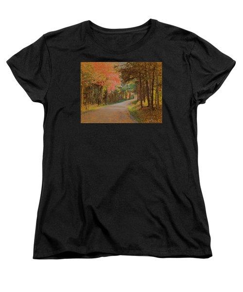 One More Country Road Women's T-Shirt (Standard Cut) by John Selmer Sr