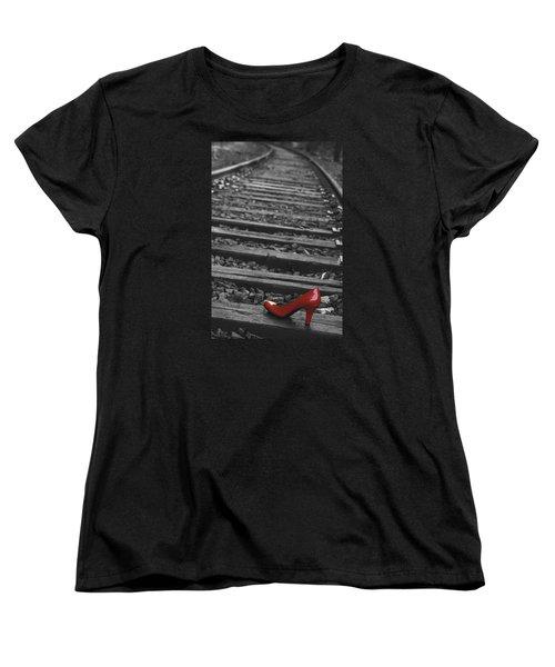 One Red Shoe Women's T-Shirt (Standard Cut) by Patrice Zinck