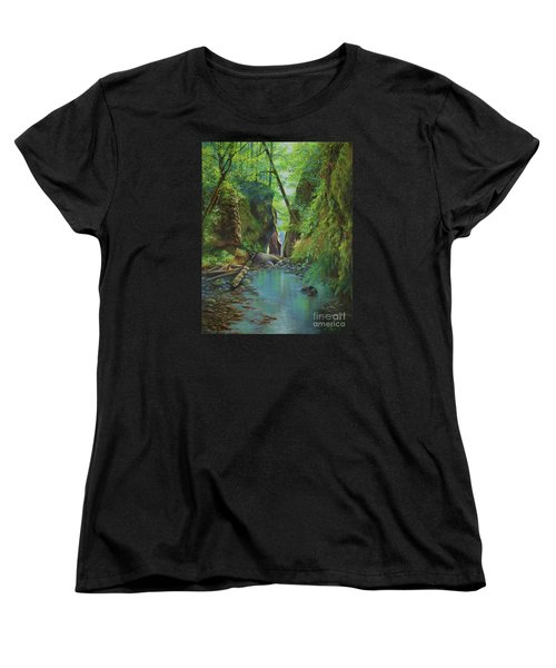 Oneonta Gorge Women's T-Shirt (Standard Cut) by Jeanette French