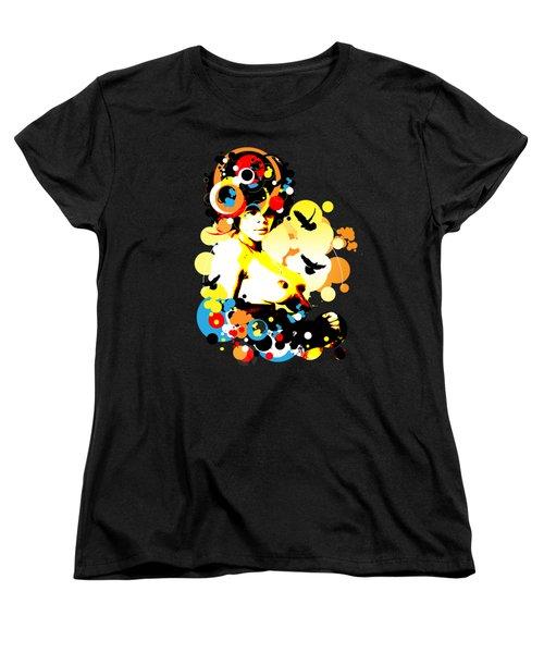 Onyx Doves Women's T-Shirt (Standard Cut) by Chris Andruskiewicz