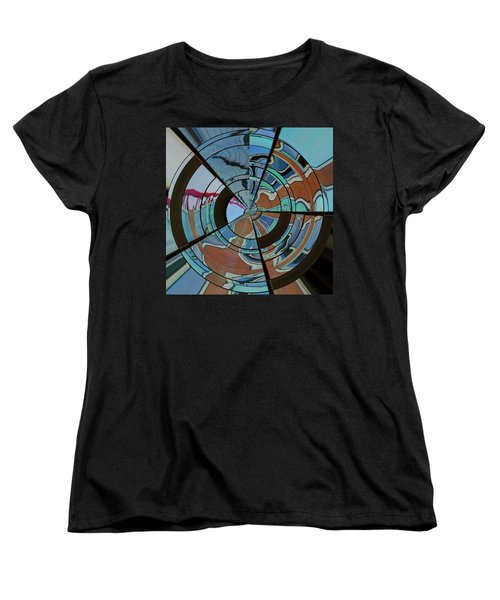 Op Art Windows Orb Women's T-Shirt (Standard Cut) by Marianne Campolongo