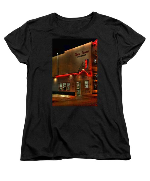 Open All Nite-texas Tavern Women's T-Shirt (Standard Cut) by Dan Stone