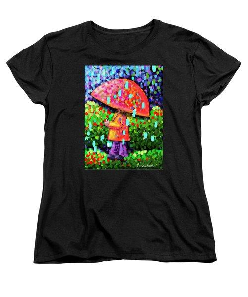 Rainy Day Stroll Women's T-Shirt (Standard Cut) by Dani Abbott