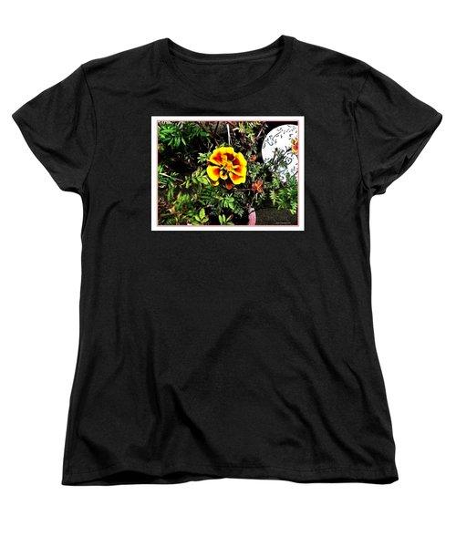 Women's T-Shirt (Standard Cut) featuring the photograph Orange And Yellow Flower by Joan  Minchak