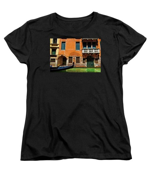 Women's T-Shirt (Standard Cut) featuring the photograph Orange Building And Gondola by Harry Spitz
