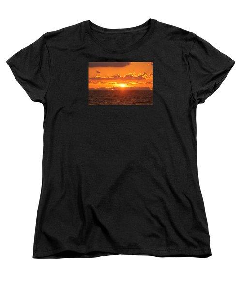 Women's T-Shirt (Standard Cut) featuring the photograph Orange Skies At Dawn by Robert Banach