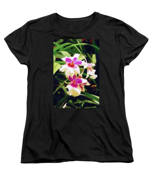 Women's T-Shirt (Standard Cut) featuring the painting Orchids 1 by Sandy MacGowan