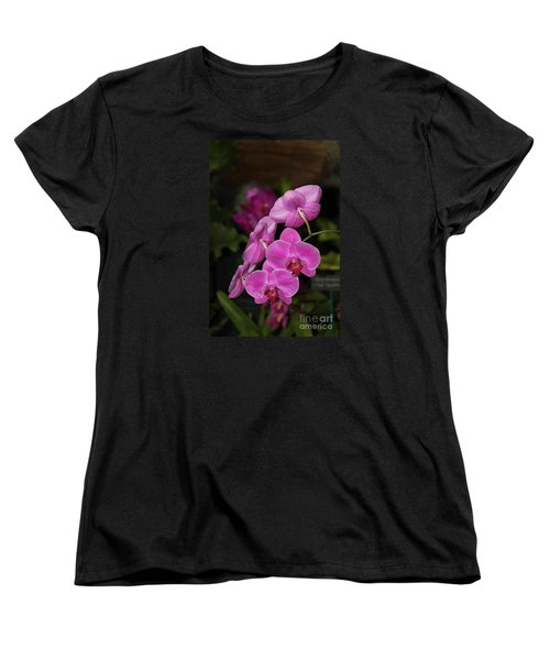 Orchids Alicia Women's T-Shirt (Standard Cut) by The Art of Alice Terrill