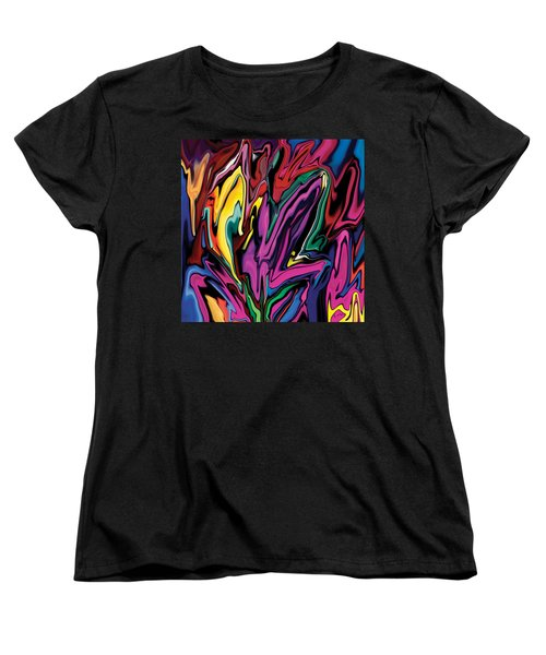 Orchids Women's T-Shirt (Standard Cut) by Rabi Khan