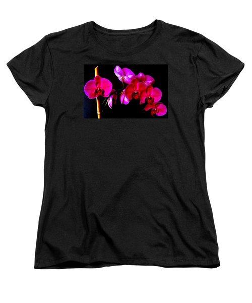 Orchids Women's T-Shirt (Standard Cut) by Ron Davidson