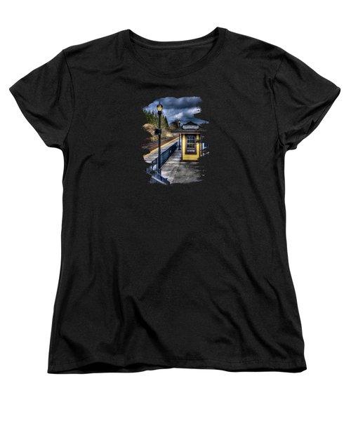 Oregon City Train Depot Women's T-Shirt (Standard Cut) by Thom Zehrfeld