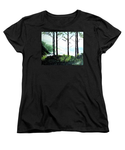 Oregon Coast Women's T-Shirt (Standard Cut) by Tom Riggs