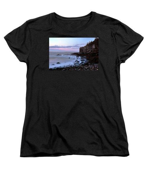 Otter Cliff Awash Women's T-Shirt (Standard Cut)