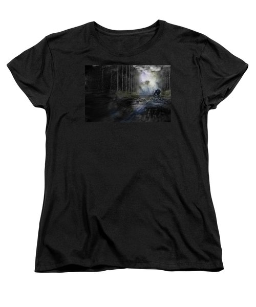 Women's T-Shirt (Standard Cut) featuring the photograph Out Of The Storm by Gray  Artus