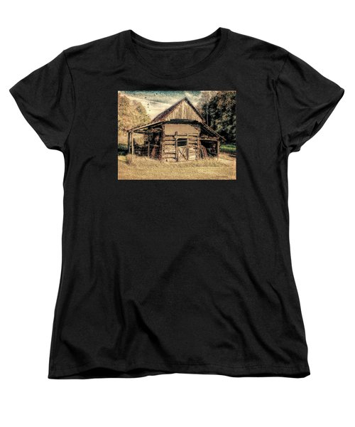 Women's T-Shirt (Standard Cut) featuring the photograph Out To Pasture 1 by Bellesouth Studio