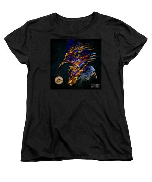 Women's T-Shirt (Standard Cut) featuring the painting Outside Of Time by Alexa Szlavics