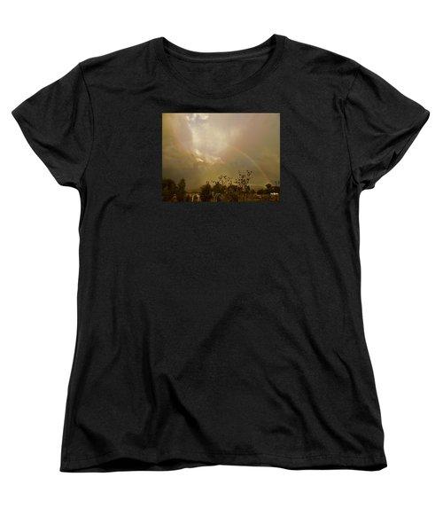 Women's T-Shirt (Standard Cut) featuring the photograph Over The Rainbow Garden by Deborah Moen