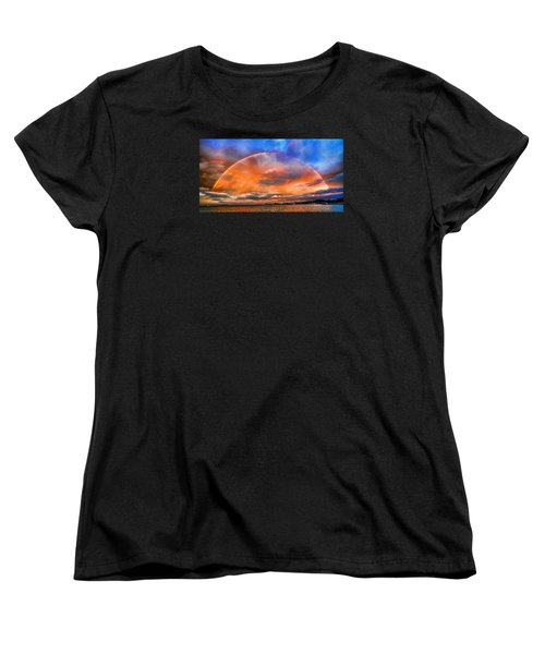 Women's T-Shirt (Standard Cut) featuring the photograph Over The Top Rainbow by Steve Siri