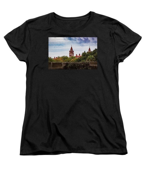 Women's T-Shirt (Standard Cut) featuring the photograph Over The Wall by Kathleen Scanlan